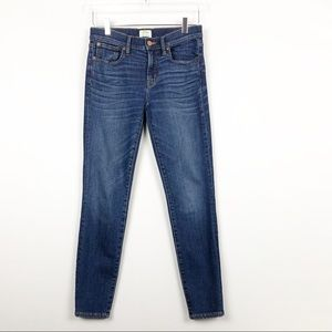 J.crew toothpick skinny ankle jeans 27